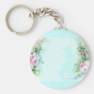 Pink Roses Victorian Style Design Keychain