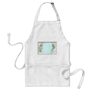 Pink Roses Victorian Style Design Standard Apron