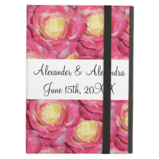 Pink roses wedding favors iPad air case