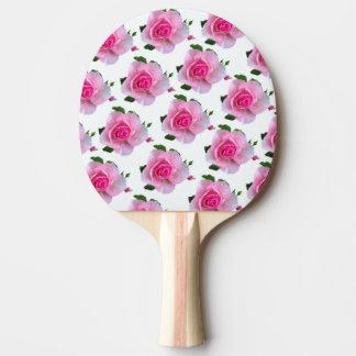 Pink Roses White Ping Pong Paddle