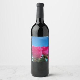 Pink Roses Wine Label