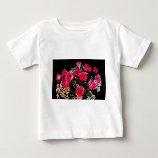 Pink Roses With All My Love Baby T-Shirt