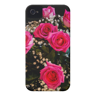 Pink Roses With All My Love iPhone 4 Case-Mate Cases