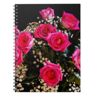 Pink Roses With All My Love Notebooks