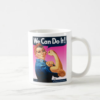 Pink Rosie the Riveter Mug