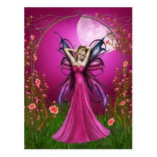 Pink Rosy Postcard