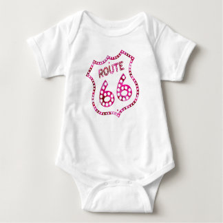 Pink Route 66 Baby Bodysuit