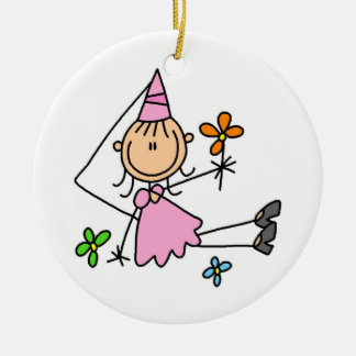 Pink Royal Princess Ceramic Ornament