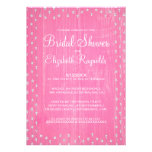 Pink Rustic Country Bridal Shower Invitations Cards