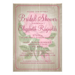 Pink Rustic Floral Bridal Shower Invitations Personalized Invitations