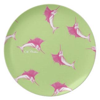 Pink Sailfish Plate