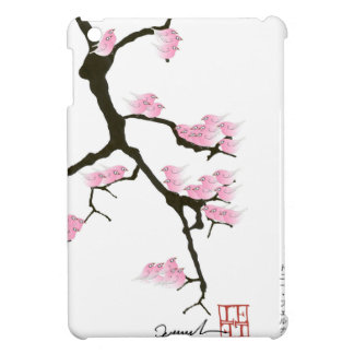 pink sakura and birds, tony fernandes iPad mini cases