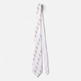 pink sakura and birds, tony fernandes tie