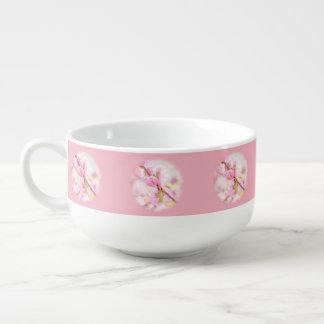 Pink sakura flowers - Japanese cherry blossom Soup Mug