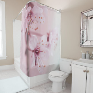 Pink Sakura Flowers Shower Curtain