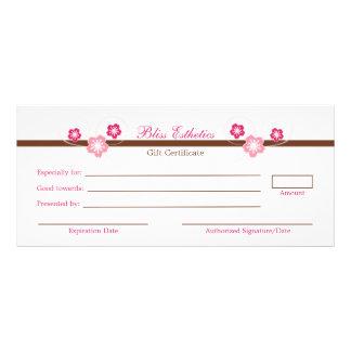 Pink Sakura Gift Certificate Template Rack Cards