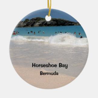 Pink Sand Beach #1, Horseshoe Bay , Bermuda Ceramic Ornament