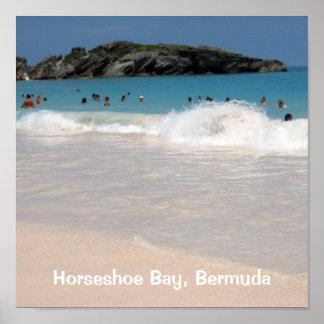 Pink Sand Beach #1, Horseshoe Bay, Bermuda Poster