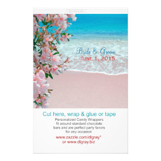 Pink Sand Beach Candy Wrappers Full Color Flyer