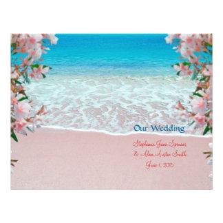 Pink Sand Beach Wedding Program Flyers