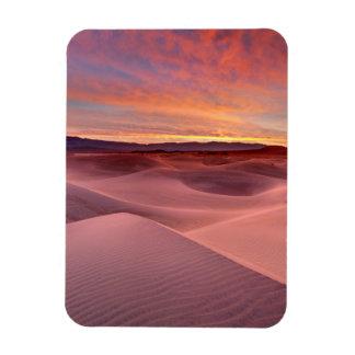 Pink sand dunes, Death Valley, CA Rectangular Photo Magnet