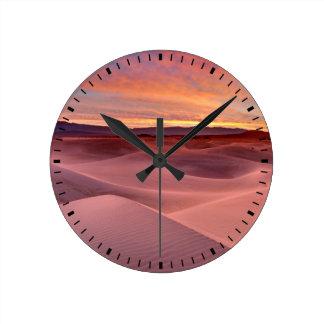 Pink sand dunes, Death Valley, CA Round Clock