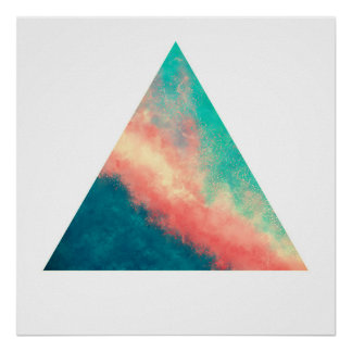 Pink Sand Paradise (Zen Triangle) Poster