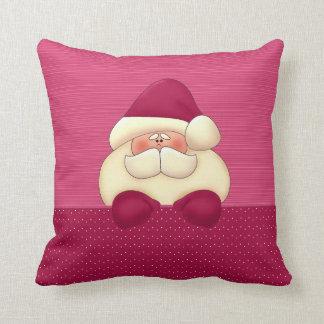Pink Santa Reversible Christmas Cushion