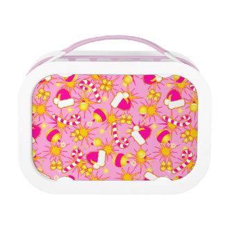 Pink - Santa's cap Lunch Box