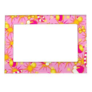 Pink - Santa's cap Magnetic Picture Frame