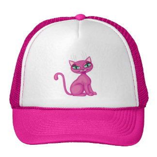 Pink Sassy Kitty Cap