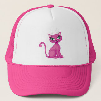 Pink Sassy Kitty Trucker Hat