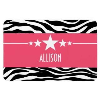 Pink Sassy Star Zebra Premium Magnet
