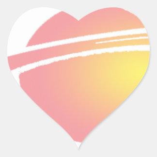 Pink Saturn Heart Sticker