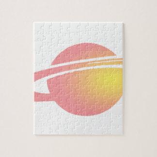 Pink Saturn Jigsaw Puzzle