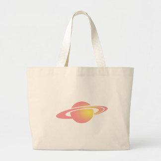 Pink Saturn Large Tote Bag