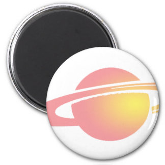 Pink Saturn Magnet