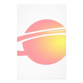 Pink Saturn Stationery
