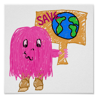Pink Save Planet Poster