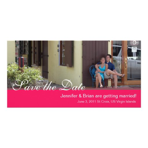 Pink Save the Date Photocard Photo Cards