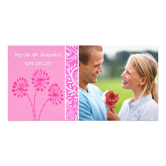 Pink Save the Date Picture Card