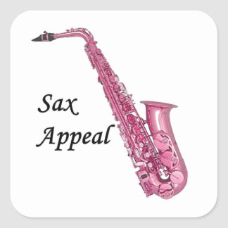 Pink Sax Square Sticker