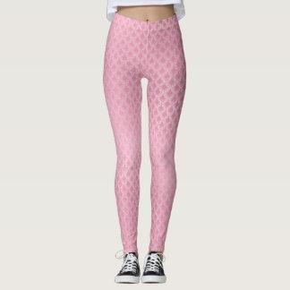 Pink Scale Pattern Leggings