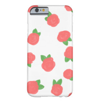 Pink Scattered Roses Barely There iPhone 6 Case