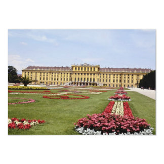 Pink Schonbrunn Castle, Vienna, Austria flowers Personalized Invitations