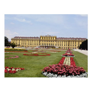 Pink Schonbrunn Castle, Vienna, Austria flowers Postcard