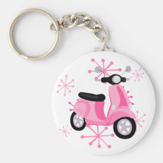 Pink Scooter Key Ring