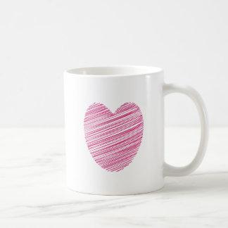 Pink Scribble Heart Coffee Mug