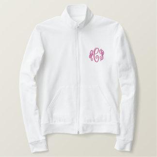 Pink Script Embroidered Monogram Jacket