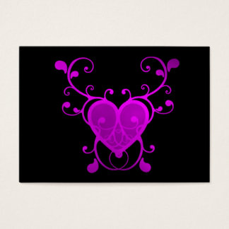 Pink Scroll Heart Child Valentine Day card